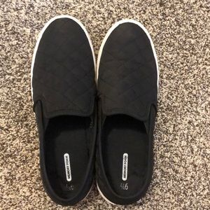 Black memory foam slip in shoes